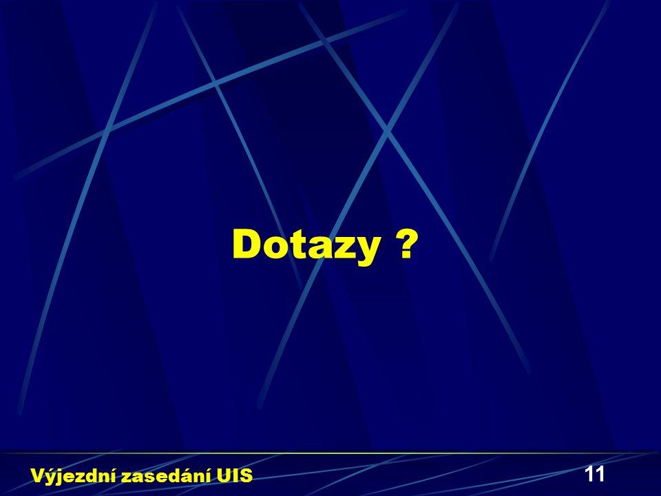 11 Dotazy ? Výjezdní zasedání UIS