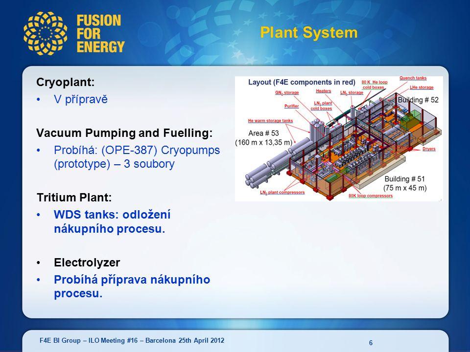 NBTF (Mitica/Prima/Spider): Probíhá: Prima Vacuum and Gas Injection Plant (uzávěrka 25/05) Probíhá nákupní proces pro Spider vessel and beam source.