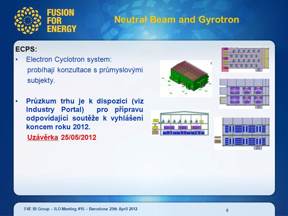 ECPS: Electron Cyclotron system: probíhají konzultace s průmyslovými subjekty.