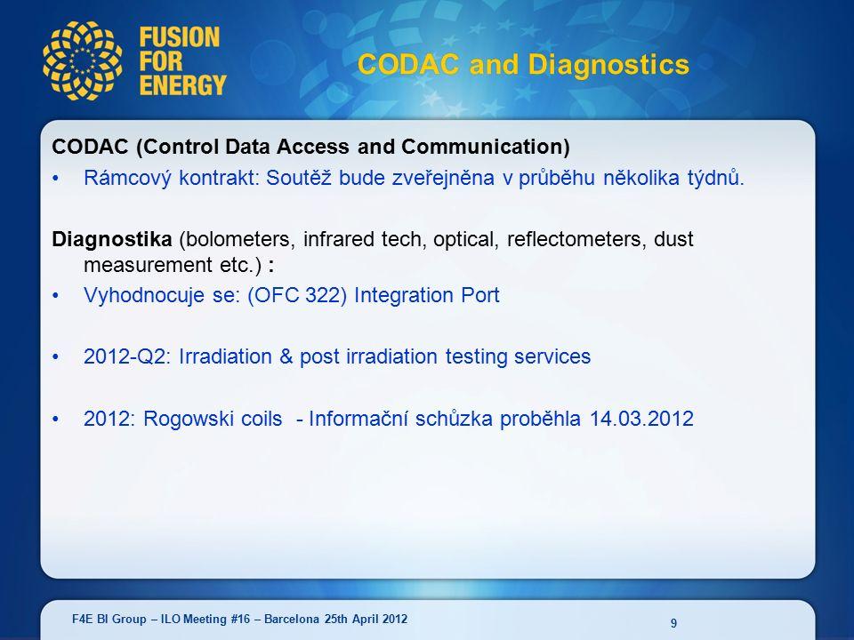 CODAC (Control Data Access and Communication) Rámcový kontrakt: Soutěž bude zveřejněna v průběhu několika týdnů.