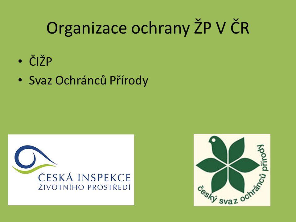 Organizace ochrany ŽP V ČR ČIŽP Svaz Ochránců Přírody