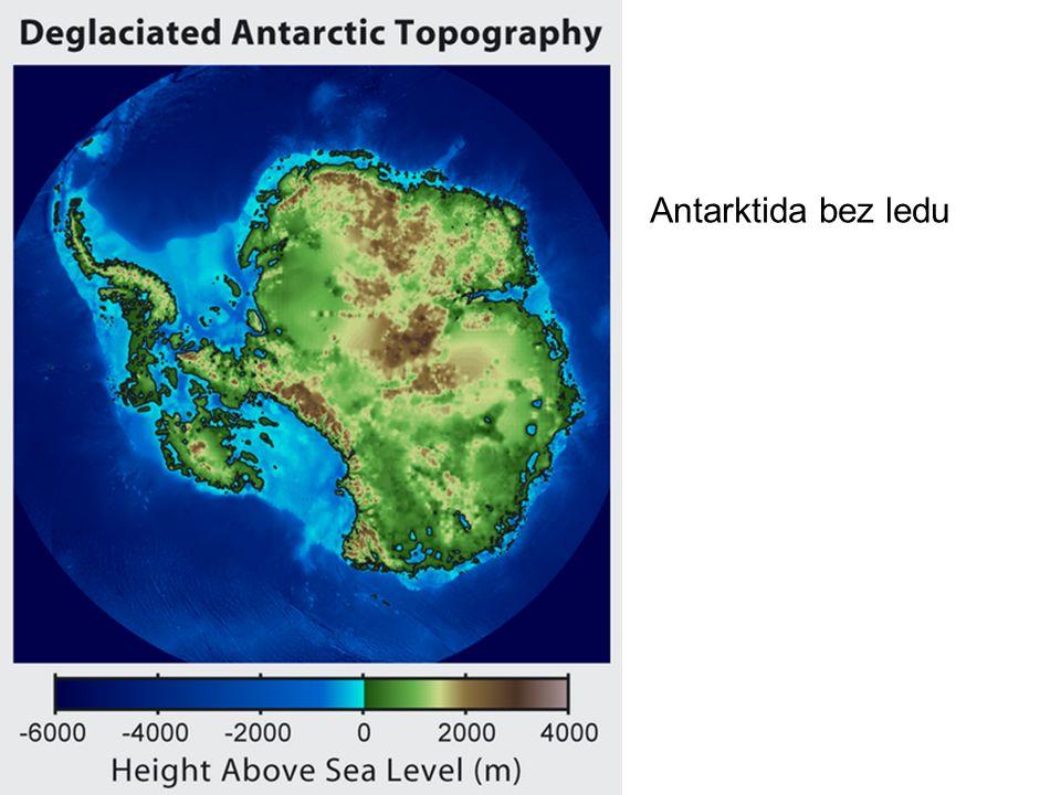 Antarktida bez ledu