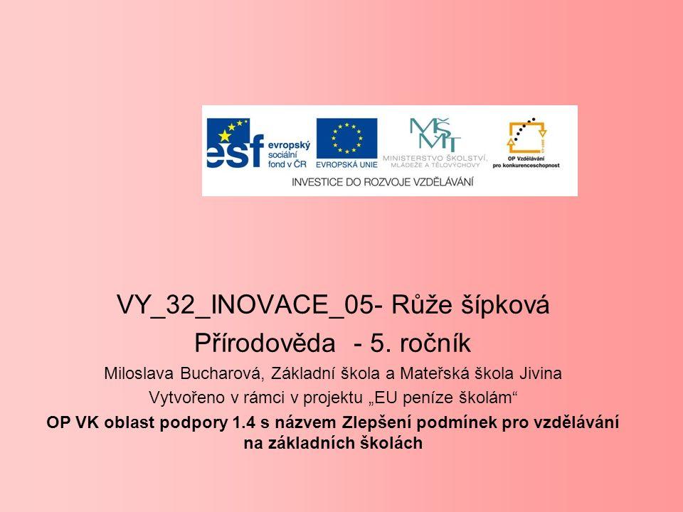 VY_32_INOVACE_05- Růže šípková Přírodověda - 5.