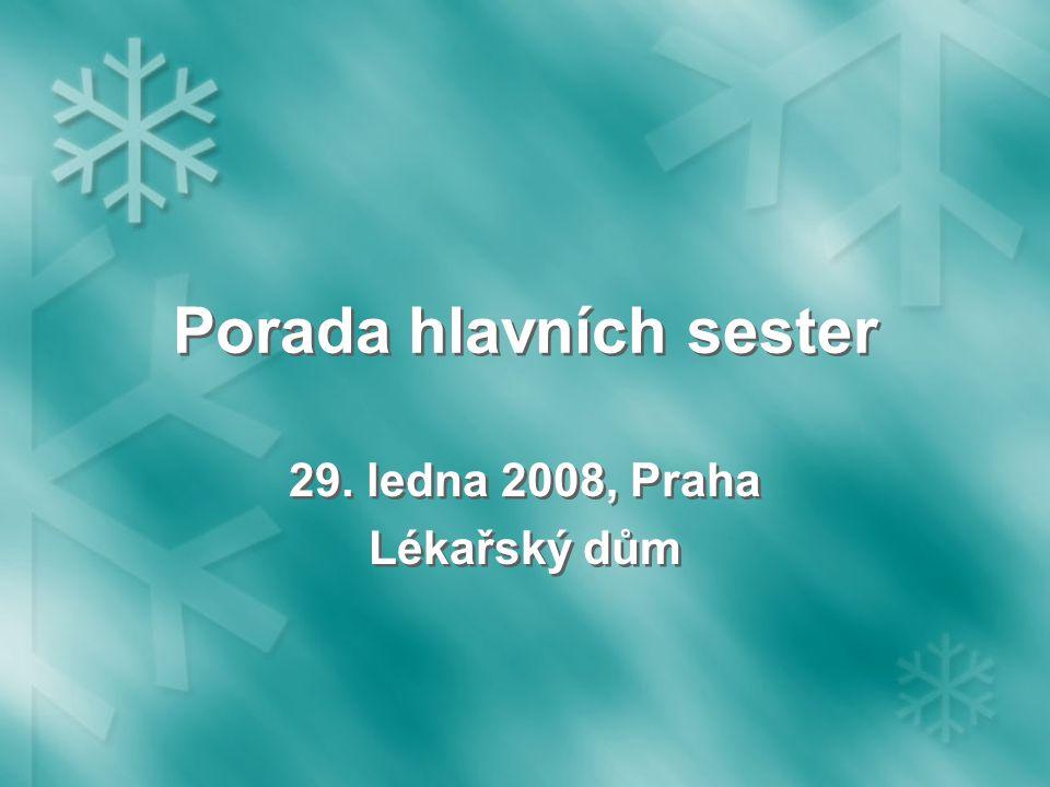 Porada hlavních sester 29. ledna 2008, Praha Lékařský dům 29. ledna 2008, Praha Lékařský dům