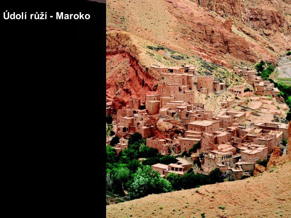 Údolí růží - Maroko