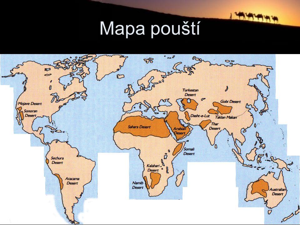 Mapa pouští
