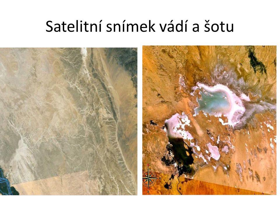 Satelitní snímek vádí a šotu
