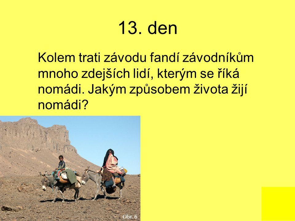 13. den Kolem trati závodu fandí závodníkům mnoho zdejších lidí, kterým se říká nomádi.