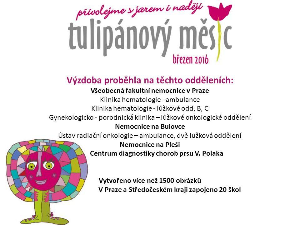 Výzdoba proběhla na těchto odděleních: Všeobecná fakultní nemocnice v Praze Klinika hematologie - ambulance Klinika hematologie - lůžkové odd.