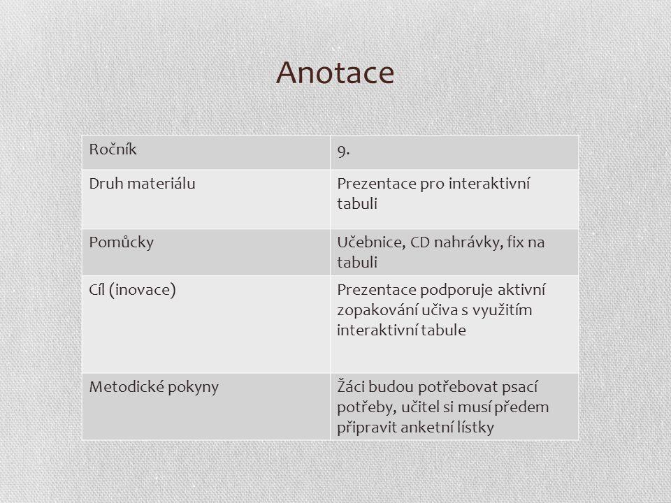 Anotace Ročník9.