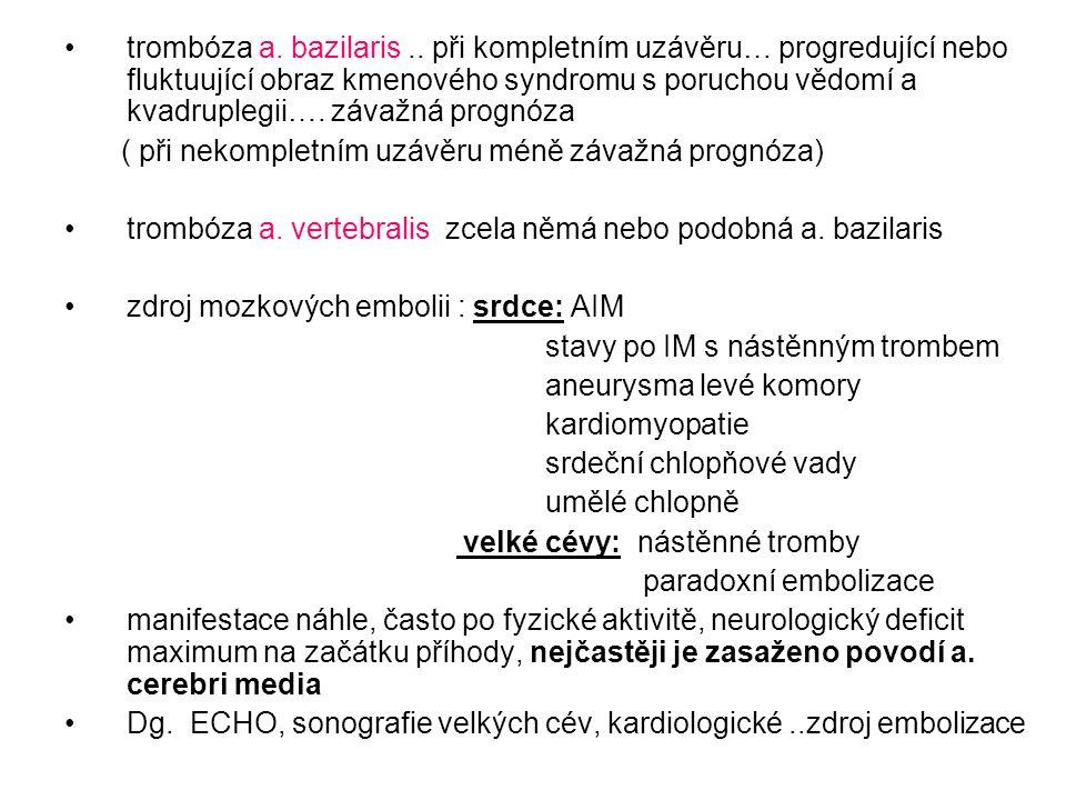 trombóza a. bazilaris..