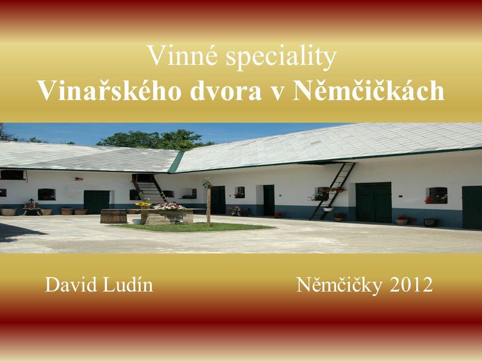 Vinné speciality Vinařského dvora v Němčičkách David Ludín Němčičky 2012