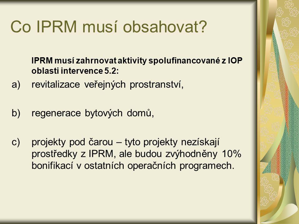 Co IPRM musí obsahovat.