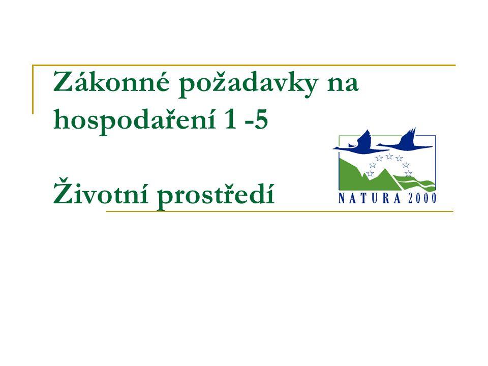 Oblast životní prostředí Podoblast ochrana ptáků SMR 1 Implementace Směrnice Rady o ochraně volně žijících ptáků 79/409/EHS.