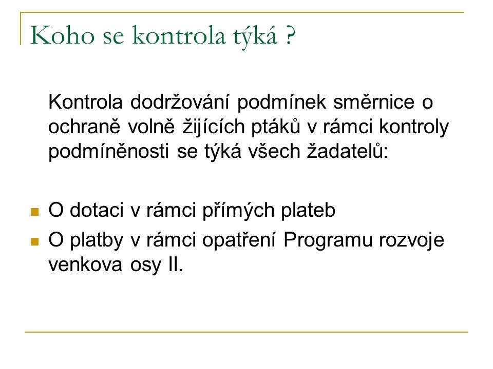 Kontrolované požadavky SMR 8 NAŘÍZENÍ RADY (ES) č.