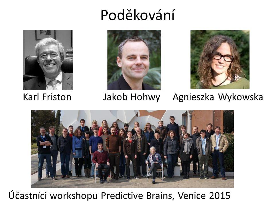 Poděkování Karl Friston Jakob Hohwy Agnieszka Wykowska Účastníci workshopu Predictive Brains, Venice 2015