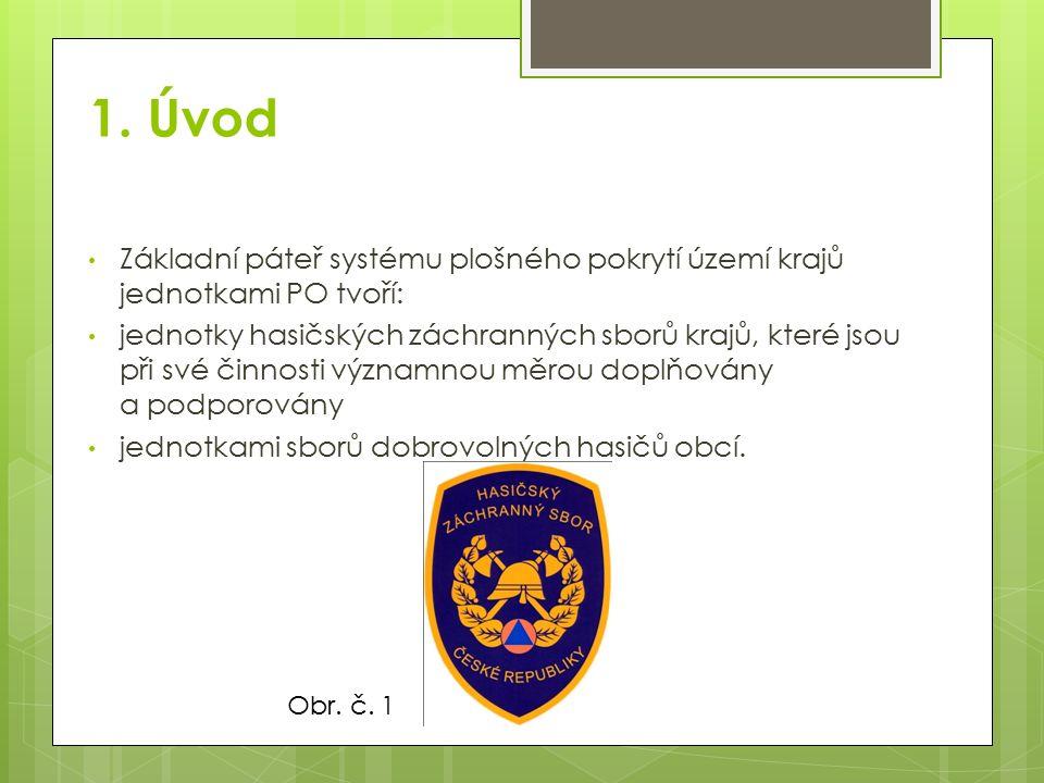 1. Úvod Základní páteř systému plošného pokrytí území krajů jednotkami PO tvoří: jednotky hasičských záchranných sborů krajů, které jsou při své činno