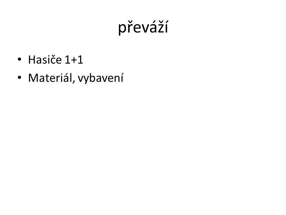 převáží Hasiče 1+1 Materiál, vybavení