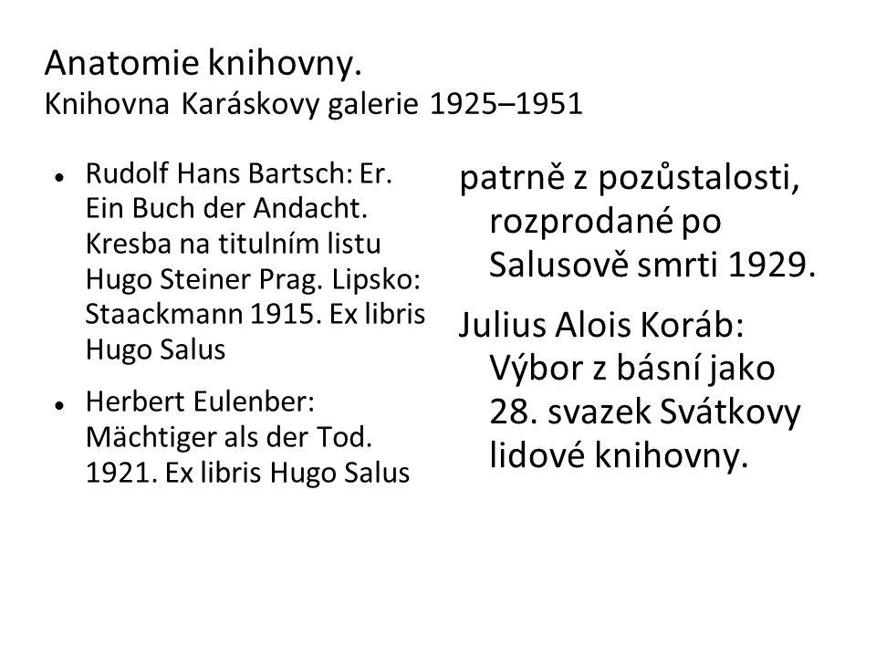 Anatomie knihovny. Knihovna Karáskovy galerie 1925–1951 Rudolf Hans Bartsch: Er.