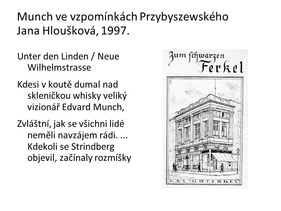 Munch ve vzpomínkách Przybyszewského Jana Hloušková, 1997.