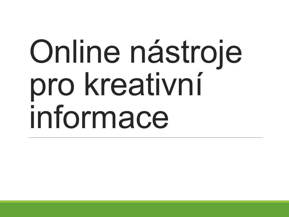 Online nástroje pro kreativní informace
