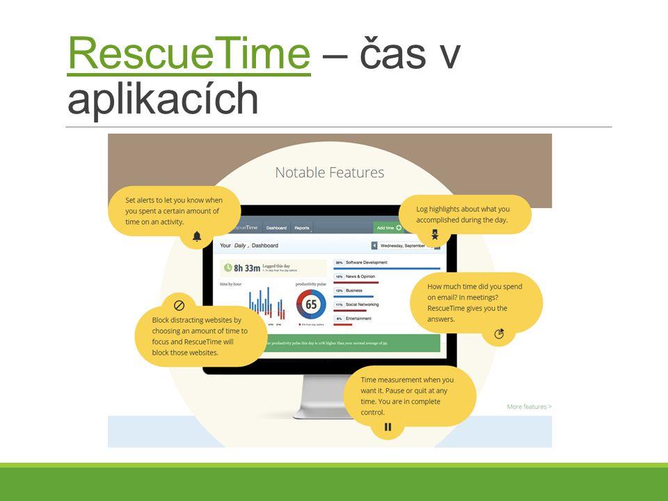 RescueTimeRescueTime – čas v aplikacích