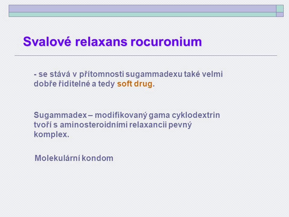 - se stává v přítomnosti sugammadexu také velmi dobře řiditelné a tedy soft drug.