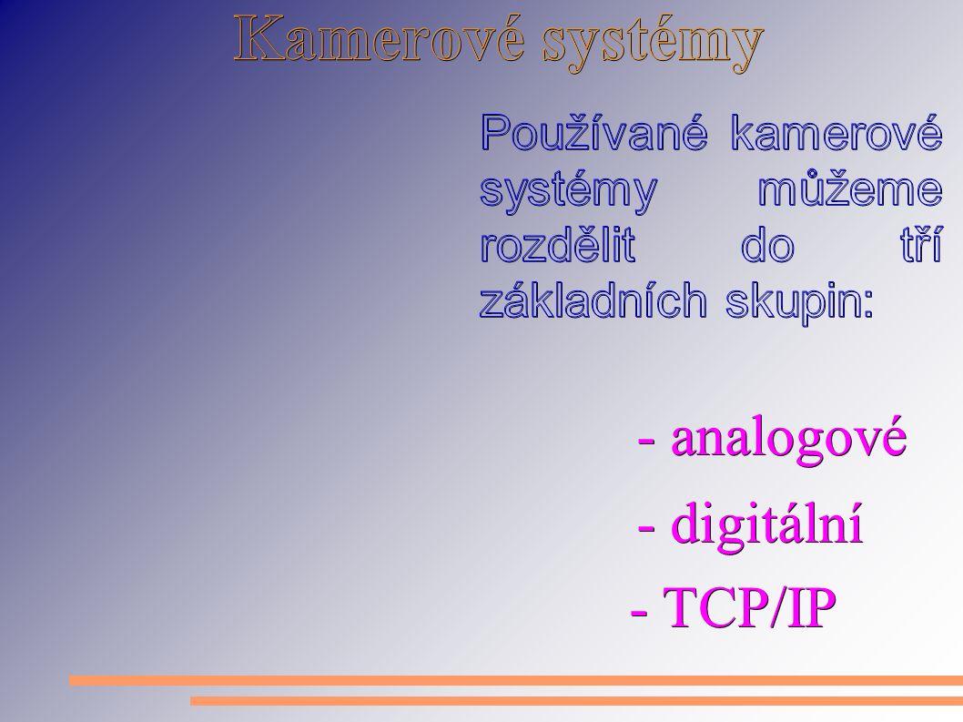 - analogové - digitální - TCP/IP