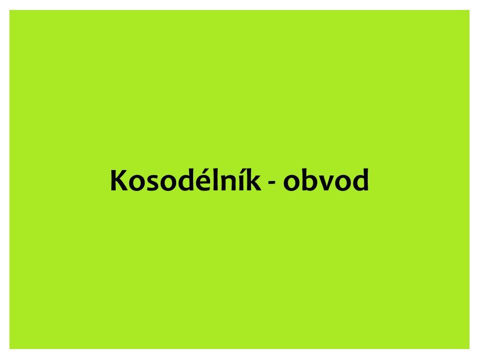Kosodélník - obvod