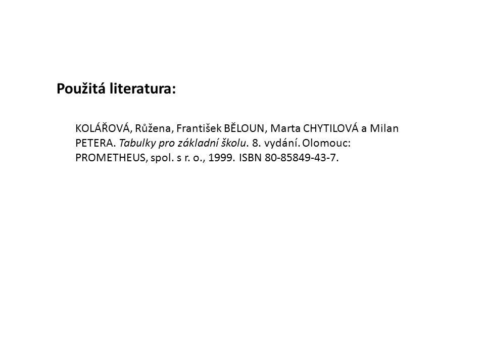 KOLÁŘOVÁ, Růžena, František BĚLOUN, Marta CHYTILOVÁ a Milan PETERA.