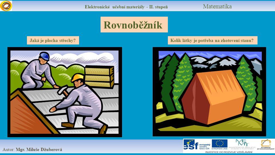 Elektronické učební materiály - II.stupeň Matematika S = a.