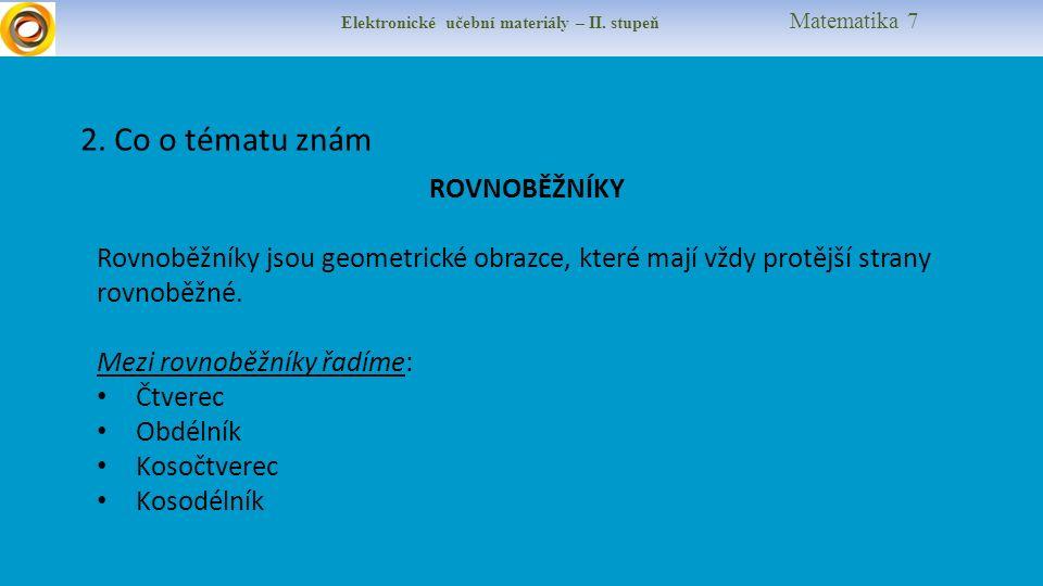 Elektronické učební materiály – II. stupeň Matematika 7 2.