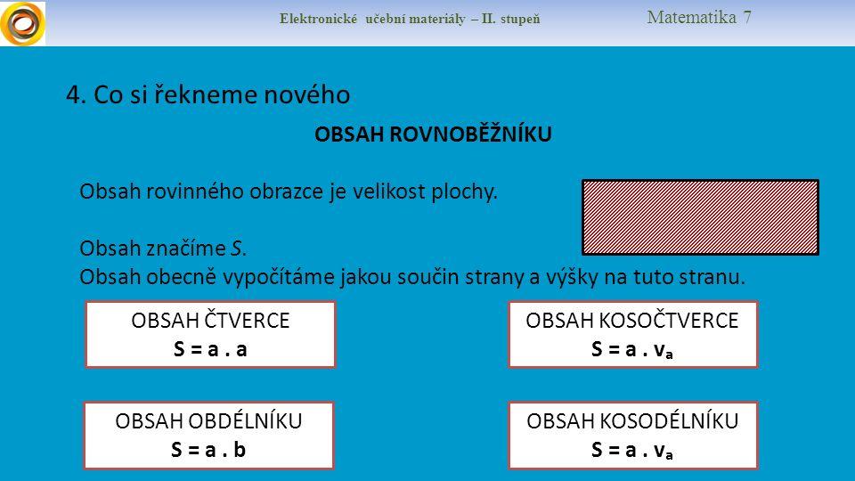 Elektronické učební materiály – II. stupeň Matematika 7 4.