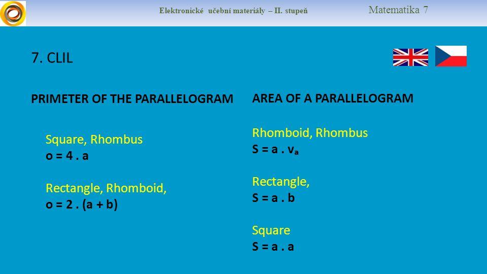 Elektronické učební materiály – II. stupeň Matematika 7 7.