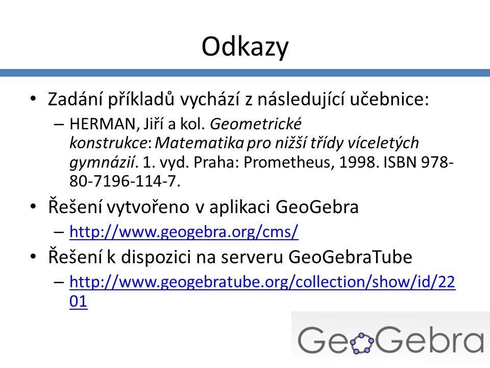 Odkazy Zadání příkladů vychází z následující učebnice: – HERMAN, Jiří a kol.