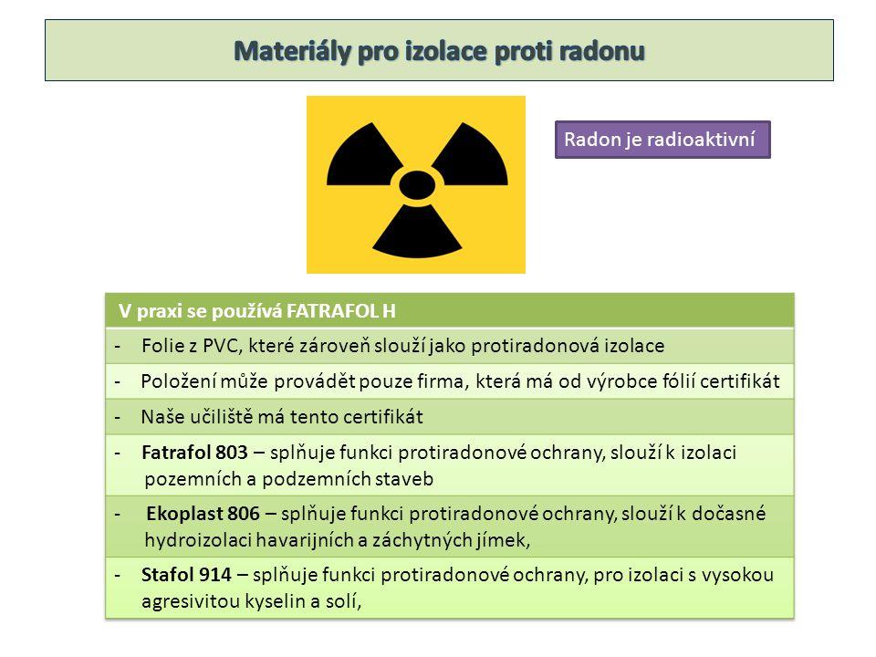 Radon je radioaktivní