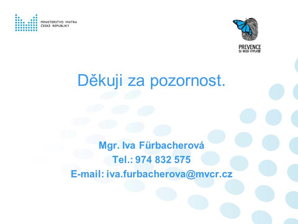 Děkuji za pozornost. Mgr. Iva Fürbacherová Tel.: 974 832 575 E-mail: iva.furbacherova@mvcr.cz