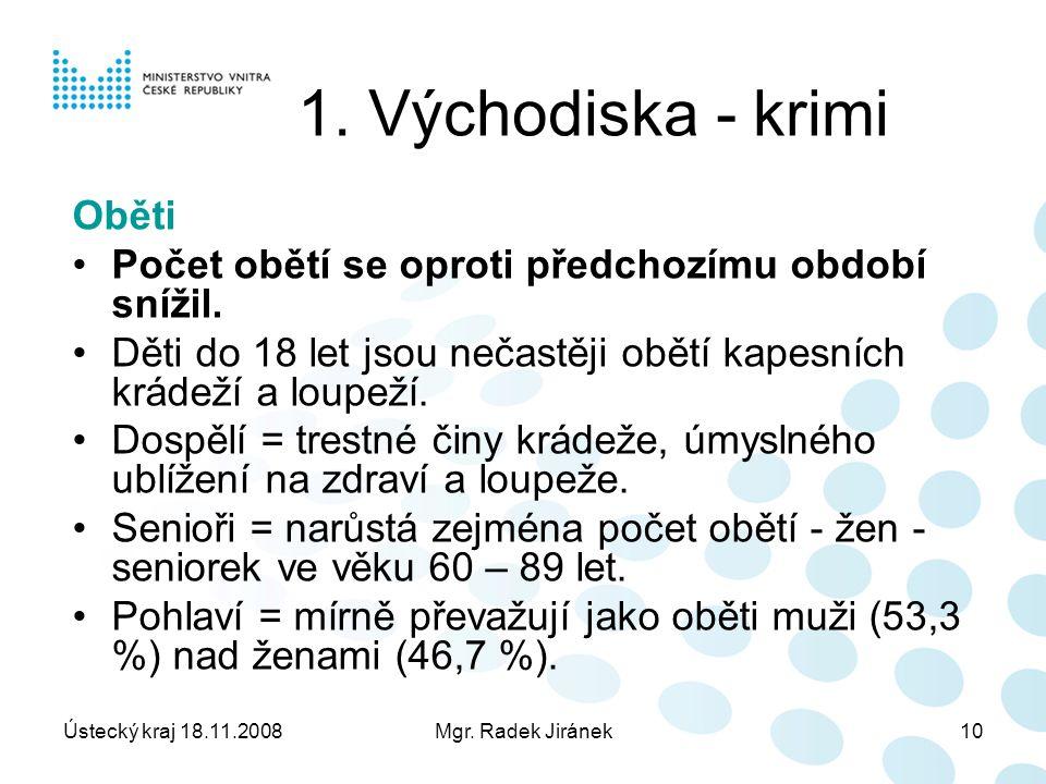 Ústecký kraj 18.11.2008Mgr. Radek Jiránek10 1.