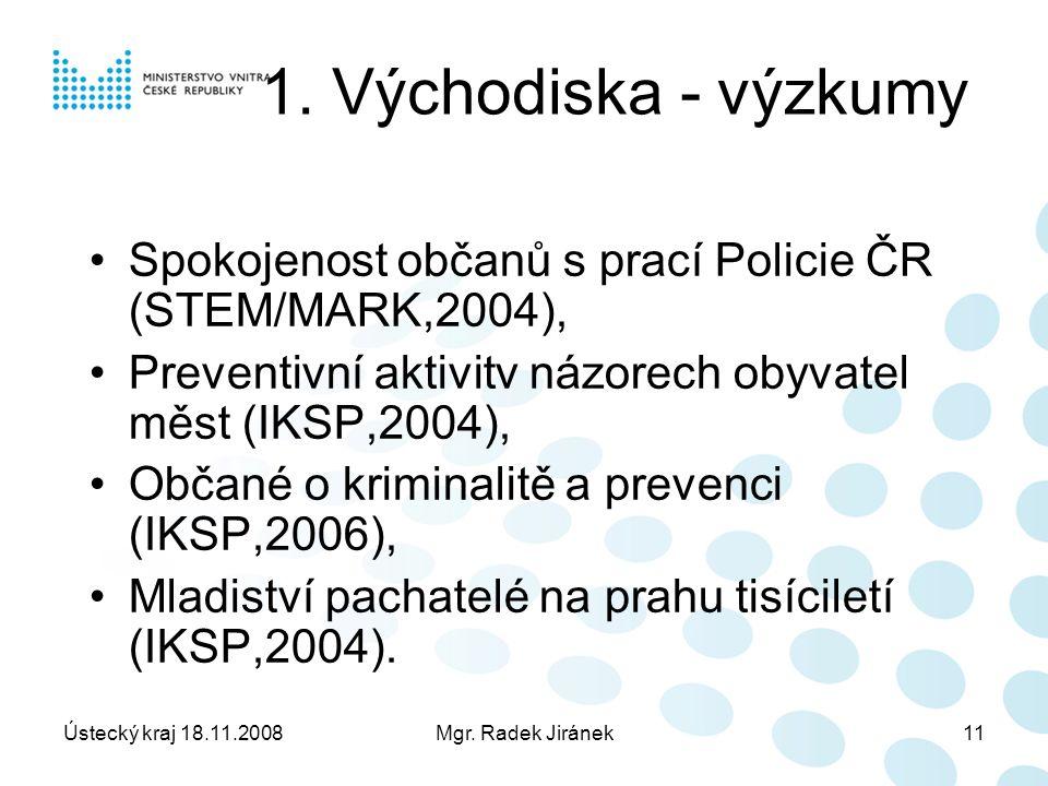 Ústecký kraj 18.11.2008Mgr. Radek Jiránek11 1.