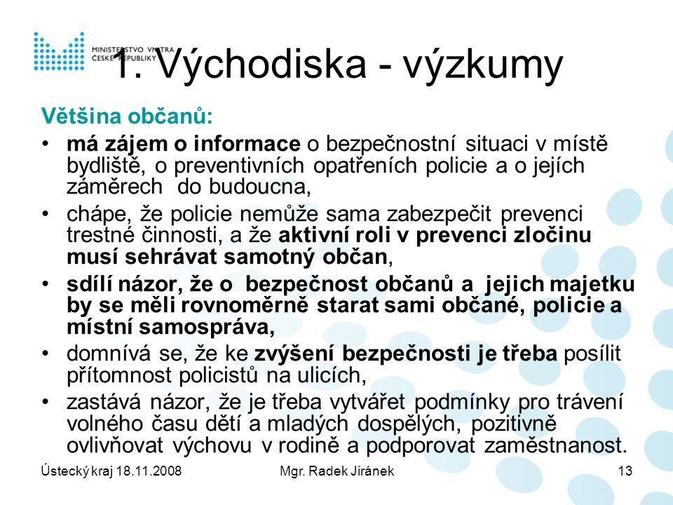 Ústecký kraj 18.11.2008Mgr. Radek Jiránek13 1.