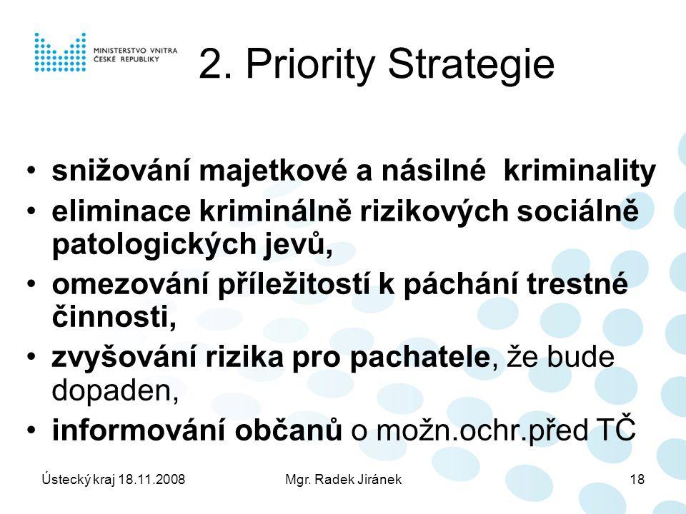 Ústecký kraj 18.11.2008Mgr. Radek Jiránek18 2.
