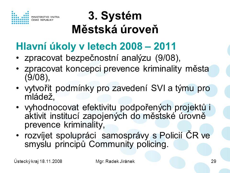 Ústecký kraj 18.11.2008Mgr. Radek Jiránek29 3.