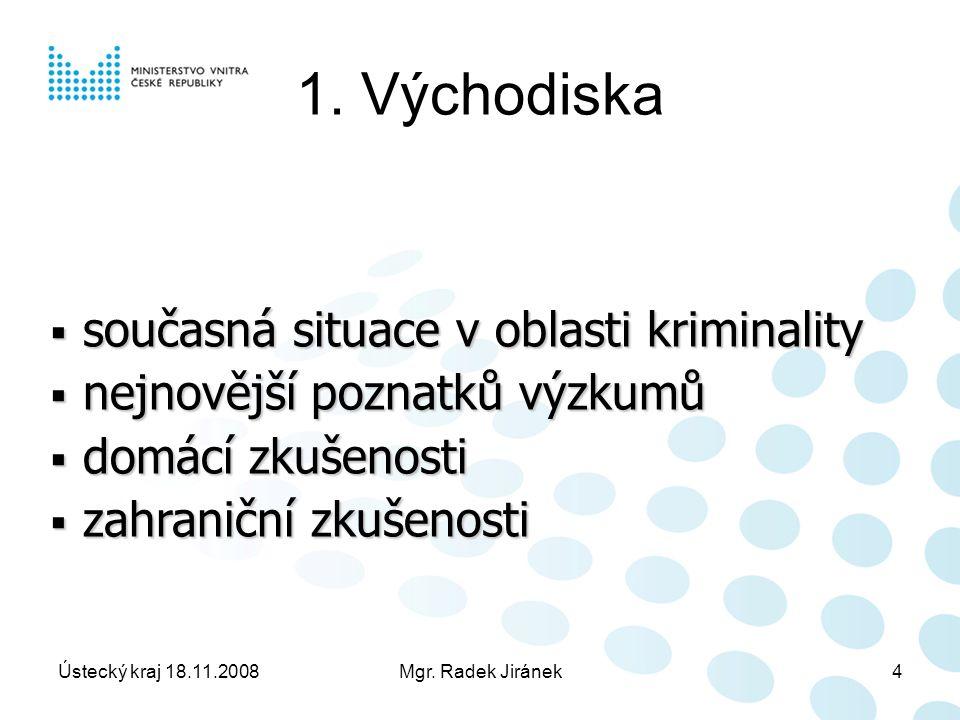 Ústecký kraj 18.11.2008Mgr. Radek Jiránek4 1.