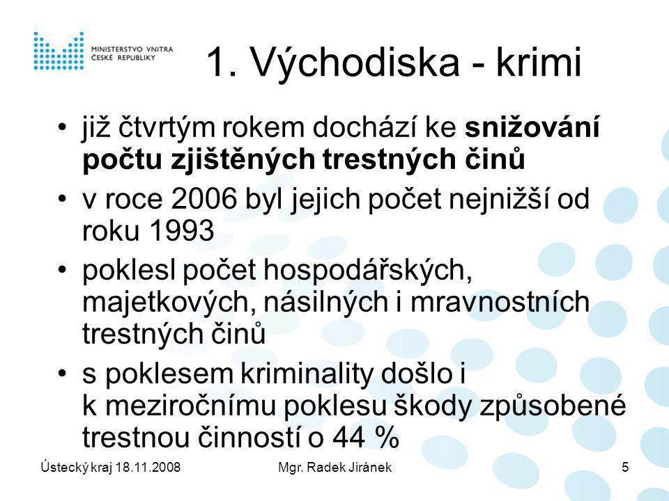 Ústecký kraj 18.11.2008Mgr. Radek Jiránek5 1.
