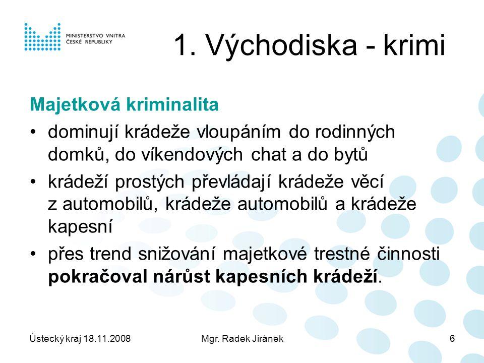 Ústecký kraj 18.11.2008Mgr. Radek Jiránek6 1.