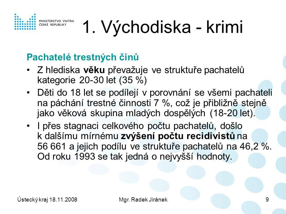 Ústecký kraj 18.11.2008Mgr. Radek Jiránek9 1.