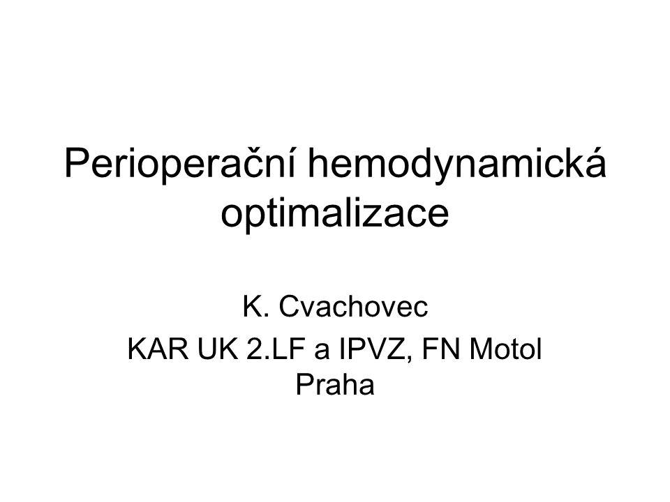 Perioperační hemodynamická optimalizace K. Cvachovec KAR UK 2.LF a IPVZ, FN Motol Praha