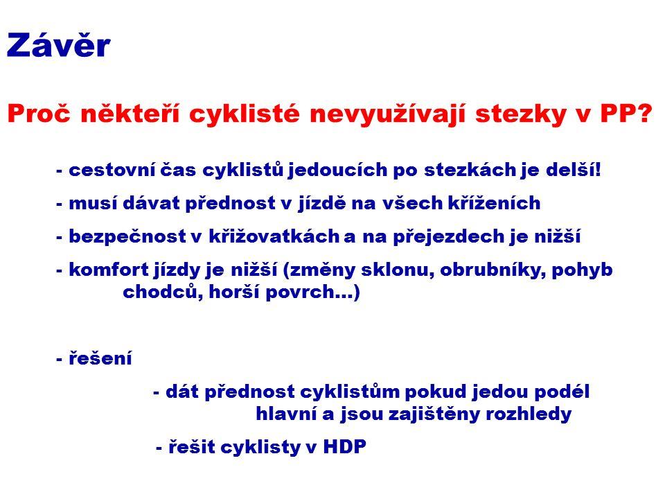 Proč někteří cyklisté nevyužívají stezky v PP.