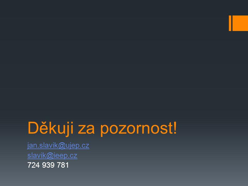 Děkuji za pozornost! jan.slavik@ujep.cz slavik@ieep.cz 724 939 781