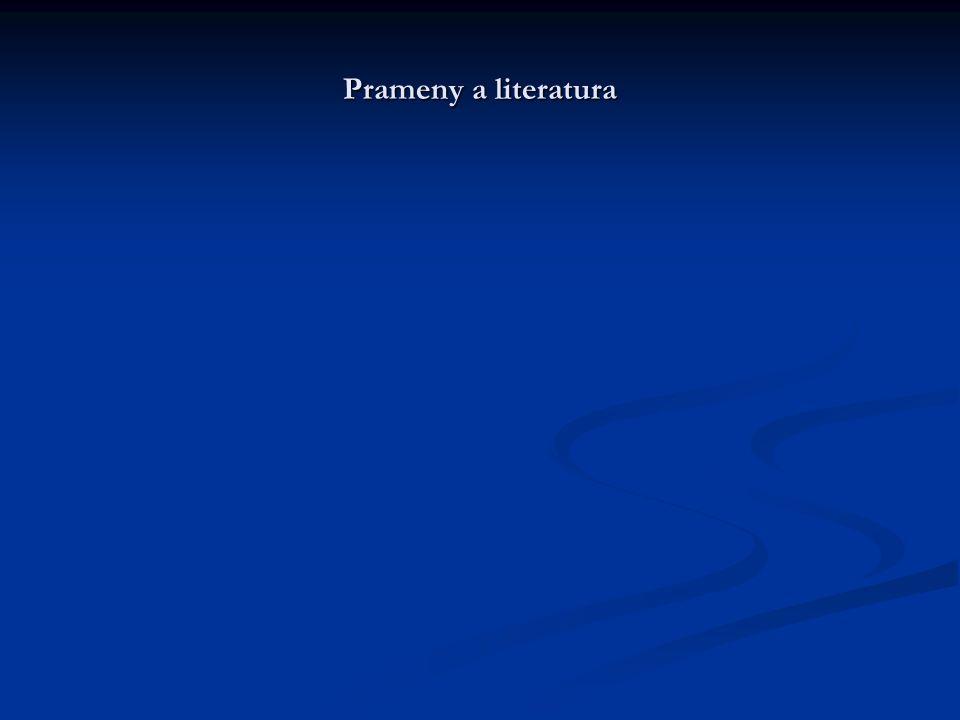 Prameny a literatura